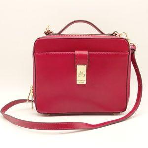 NWT BRAHMIN Evie Crossbody Fushia Pink Leather Bag